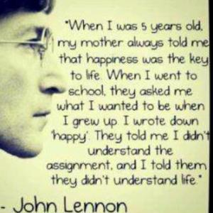 john lennon, the meaning of life