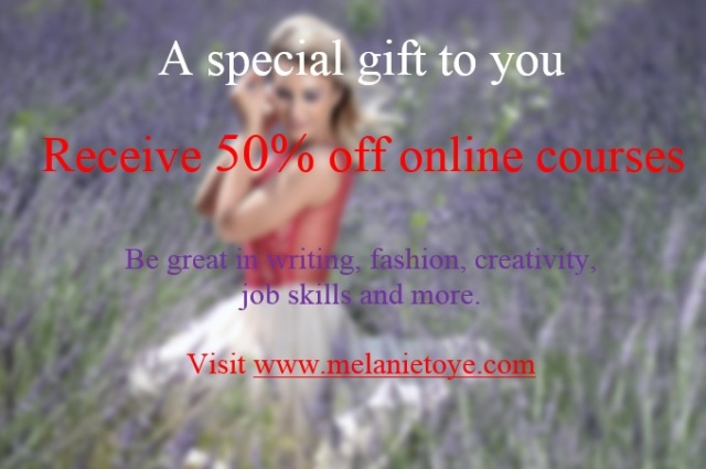 Melanie Toyes 50 percent off sale of online courses