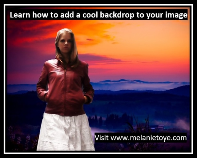 Add cool backdrop to your image online course image
